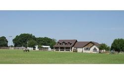 Gorgeous Austin stone home on 22 acres. Pipe fencing, stalls, lighted arena, barn apt, ponds, sand loam, Hwy 110 frontage for commercial potential, in ground pool and ag exempt. More info and pix at maverickhorses dot.... Motivated seller and NEW reduced
