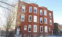 Gutted and ready for rehab! Vacant center ent. six flat with large six room, three beds units that has been gutted and is really for rehab.Location