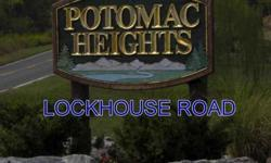 Potomac river access, a great corner lot and an even more wonderful price.