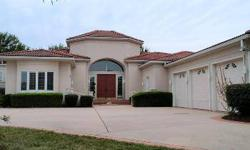 The circular drive enhances this spectacular 1 level home overlooking the golf course in Highland Springs. The interior has been freshly redone and is very light and open with special paint finishes. The gracious foyer opens onto a lovely patio with a