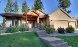 Stunning Custom Craftsman Rancher in Riverwood Estates, Adjacent to the Spokane Country Club & close to St. Georges School, Beautifully appointed Large Gourmet Chefs Kitchen, Main Floor Master withDual entrance His/Hers Shower, Bathroom and Walk-In