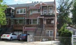 Brick with walk-in 2 bedroom hospitality suite. Each apartment has a living room and dining area, top apartment with front terrace 1st floor apartment with front porch. Property features front yard and huge rear yard plus multiple car parking. All vacant