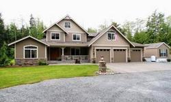 Welcome to Paradise! Beautiful secluded 5 acre, custom home has it all! 3398 sq. ft. 3 bedrooms, den, bonus room, guest house, Elegant Master Suite with fireplace, radiant heat in 5 piece Master bath, 3 car garage. Gorgeous gourmet kitchen has granite