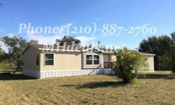 (210)-887-2760Beautiful 5 bedrooms 3 bathrooms mobile home on .54 acres.Located Minutes from town in a great location. This home is perfect for anyone. The interior comes with Ceiling Fan, Garden tub, Laundry Room, Pantry, Split Floor Plan, Tape and