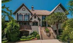 """""""The Abby"""" A custom built one-of-a-kind exquisite pool home situated on a corner lot w/AN ADDITIONAL WATERFRONT LOT W/A MOORING, SEA WALL and DAVITS W/DIRECT GULF ACCESS on prestigious Westshore Drive of Gulf Harbors! Enchanting w/so much character, this"""