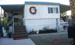 """Lovely 2 BR/1.5 Bath Mobile Home In Sunny Las Vegas, NVYour Vegas """"hide-away"""" is located on the Largest Lot in ElDorado Estates, a Quiet and Peaceful 50+ Community, yet within amile of the Vegas Strip (with view) (and yet it's so peaceful here) More"""