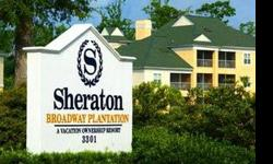 The villas at Sheraton Broadway Plantation offer all the luxuries a resort home should have, including a living room with sleeper sofa, an entertainment center, and a color TV in each bedroom. All feature a fully equipped kitchen, a separate dining area