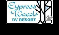 Cypress woods rv resort is a 150 acre access controlled community set in a quiet park like setting, landscaped & surrounded by wooded preserves. Listing originally posted at http