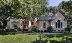 Located on a wooded interior lot, this custom designed home is stunning featuring stone, brick & stucco! Architecturally significant features include