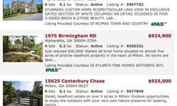 Atlanta Georgia Real Estate - Milton SpecialistThe Mary Ellen Vanaken Team of Keller Williams Realty (678)665-2887 http