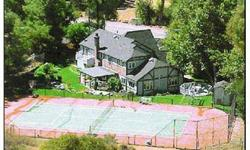 MOTIVATED TO LEASE & JUST REDUCED TO $6850-AMAZING 5 BED, 5 FULL BATH COUNTRY ESTATE ON APPROX 1 ACRE SURROUNDED BY LUSH SANTA MONICA MOUNTAINS AND SEASONAL CREEK; PRIVATE, COMPLETELY FENCED (DOGS & HORSES); CHEF'S GRANITE KITCHEN; MEDIA ROOM; FORMAL