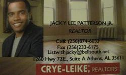 CALL JACKY FOR A FREE LIST OF FORECLOSURES IN LIMESTONE, MADISON & MORGAN COUNTY!! IT'S FREE!!MY SERVICE IS FREE TO ALL BUYERS!!JACKY PATTERSON JR.CRYE-LEIKE REALTORS ATHENS (256) 874-6033