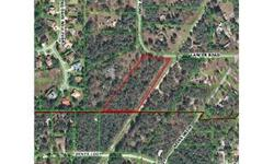 Unique opportunity to acquire 4.1 acres on the beautiful west coast of Florida. Come build your dream home today in this great area. Minutes from shopping and dining. 15 minutes to the Gulf, 45 minutes to Tampa, and just over 1.15 hours to Orlando!