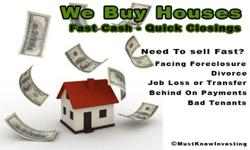 ~We are local investors that want to help you get your house sold quickly. We can make you a quick cash offer and can close fast.~If your real estate agent isn't getting it done for you or you you are still not sure if you want to list your house with one