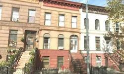 Up for your consideration is this classic Brooklyn Brownstone. It is a 3 family home with 8 bedrooms. The bedrooms are split 2/3/3. This home includes a finished basement! Only a 3.5% Down Payment is Needed so you can OWN it! Absolutely NO Fees! There