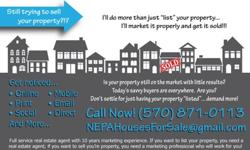 """If you want to """"list"""" your property, you need a real estate agent. If you want to SELL your property, you need a marketing professional who will work for you!"""